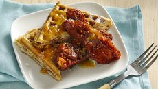 Buffalo Chicken and BBC Waffles Recipe
