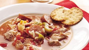 Slow-Cooker Spicy Chicken and Sausage Soup