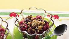 Two-Berry Crisp with Pecan Streusel Topping Recipe