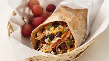 Healthified Chicken and Black Bean Burritos