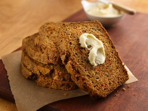 Zucchini-Carrot&#32;Bread&#32;with&#32;Creamy&#32;Honey&#32;Spread