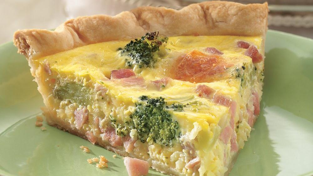 Ham and Broccoli Quiche recipe from Pillsbury.com