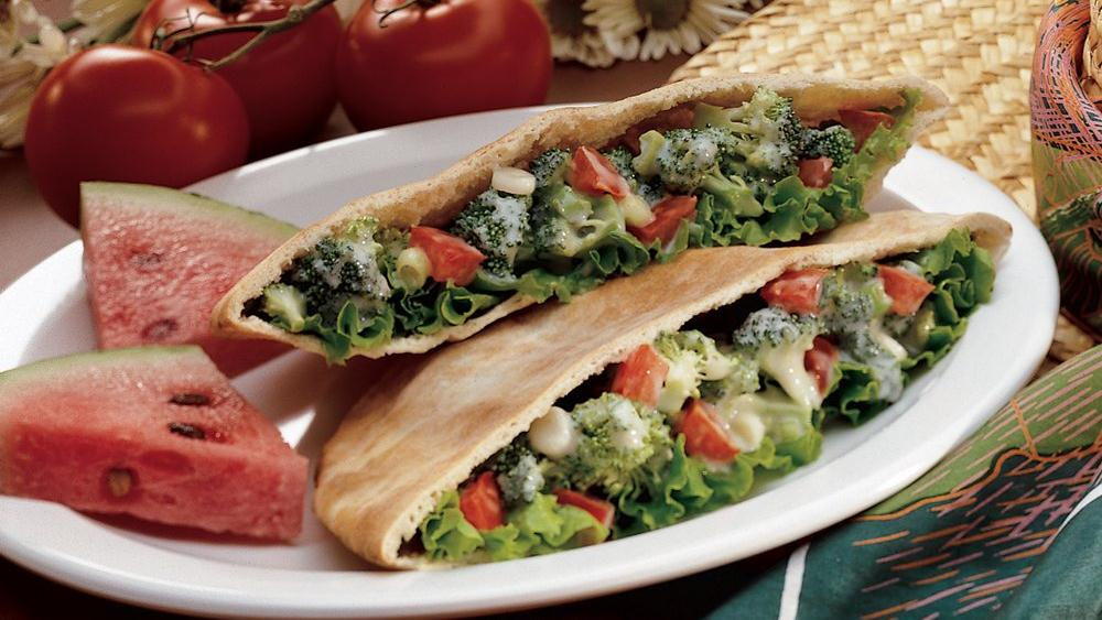 Broccoli Salad Pitas