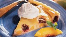 Peachy Cherry-Almond Tart Recipe