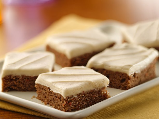 Carrot Cake Bars with Cinnamon-Cream Cheese Frosting