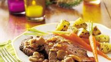 Peppered Beef Tenderloin with Mushroom Sauce Recipe