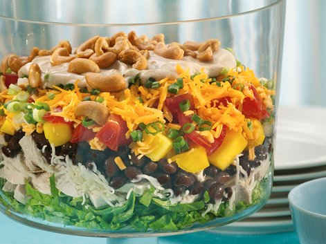 Layered Caribbean Chicken Salad