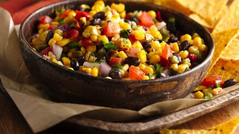 Black Bean and Roasted Corn Salsa recipe from Betty Crocker