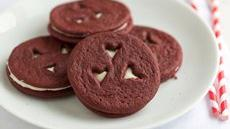 Red Velvet Heart Sandwich Cookies Recipe