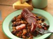 Slow Cooker Barbecued Beans and Polish Sausage