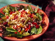 Three-Bean and Barley Salad
