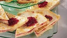 Turkey-Cranberry Quesadillas Recipe