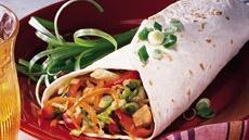 Moo Shu Veggie Wraps Recipe