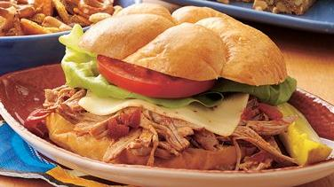 Slow-Cooker Hot Pork Sandwiches