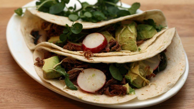 Grilled Beef Salad Tacos
