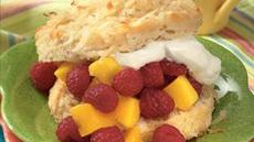 Raspberry-Mango Shortcakes Recipe