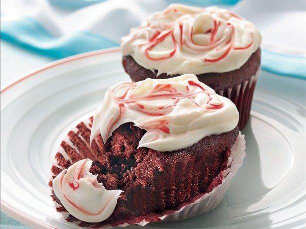 Red Velvet Cupcakes con glaseado de queso crema