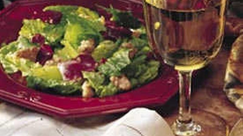Mixed Greens with Parmesan Walnuts