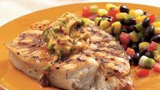 Grilled Halibut with Chipotle Butter Recipe