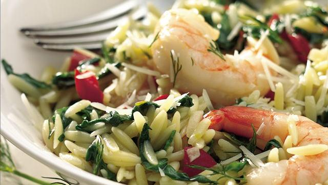 Shrimp Pilaf Florentine