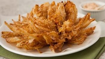 Gluten-Free Chex® Blooming Onions with Bacon Chipotle Dip