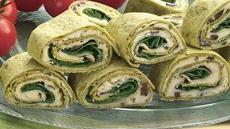 Greek Spinach-Turkey Wraps Recipe