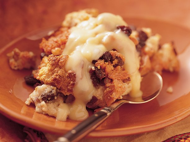 Sweet Potato &quot;Bread&quot; Pudding with Orange Sauce