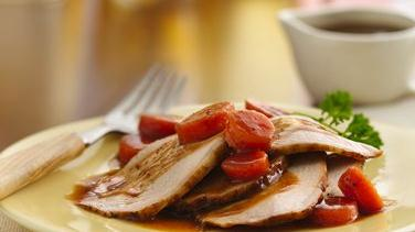 Honey Barbecue Pork Roast with Carrots