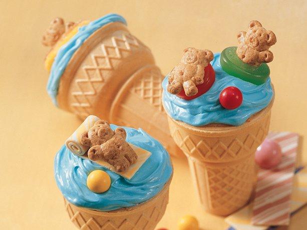 Beary conos Cupcake diversión