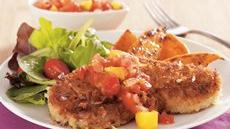Coconut Pork Cutlets with Mango Salsa Recipe