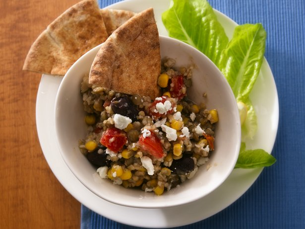 Slow Cooker Mediterranean Bulgur and Lentils