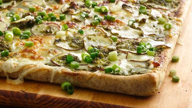 Potato Pesto Pizza