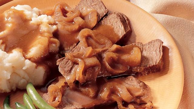 Slow Cooker Caramelized-Onion Pot Roast Recipe