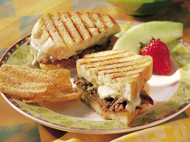 Beef-Pesto Panini