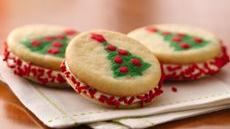 Christmas Tree Sandwich Cookies Recipe