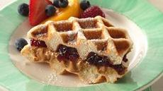 PB &amp; J Waffle Sandwiches Recipe