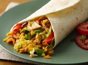 Asian&#32;Chicken&#32;Wraps