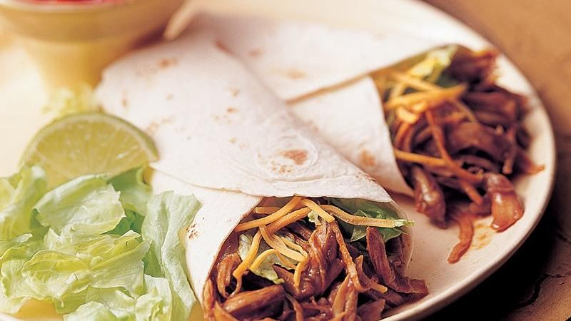 Slow-Cooker Tex-Mex Turkey Wraps (Crowd Size)