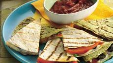 Grilled Pizza Quesadillas Recipe