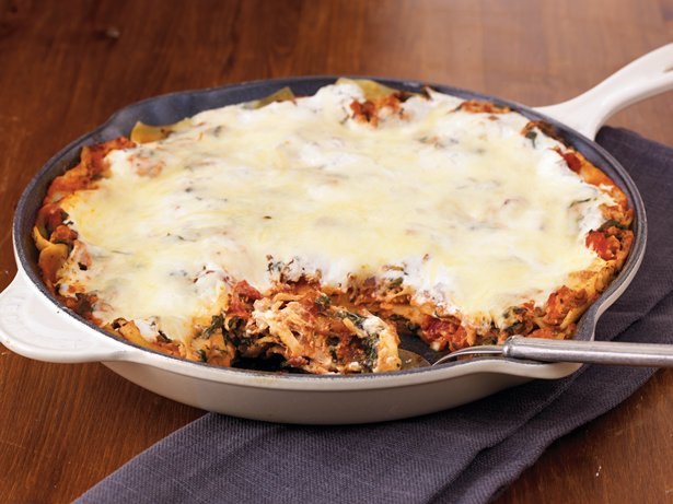 Turkey Florentine Skillet Lasagna