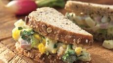 Summer Ham and Egg Salad Sandwiches Recipe