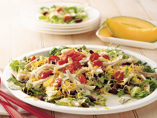 Layered Mexican Chicken Salad