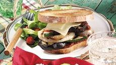 Grilled Eggplant Pizza Sandwiches Recipe