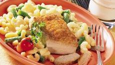 Pork Chops with Cheesy Pasta Recipe