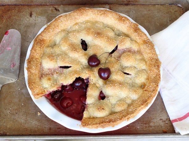 Baked Fresh Cherry Pie Recipe — Dishmaps