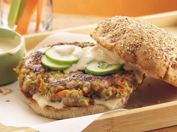 Teriyaki Veggie-Pork Burgers