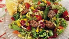 Corn and Pea Salad with Cinnamon-Toasted Pecans Recipe