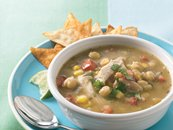 Slow-Cooker Chicken Verde Tortilla Soup