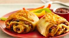 Beef and Bean Crescent Burritos Recipe