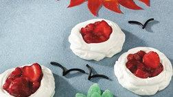 Gluten-Free Strawberry Rhubarb Meringue Clouds